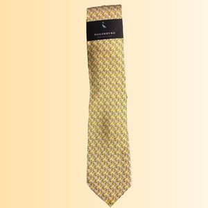 "Tailorbyrd Men's yellow martini 🍸 tie 3"" R/M 37.5"